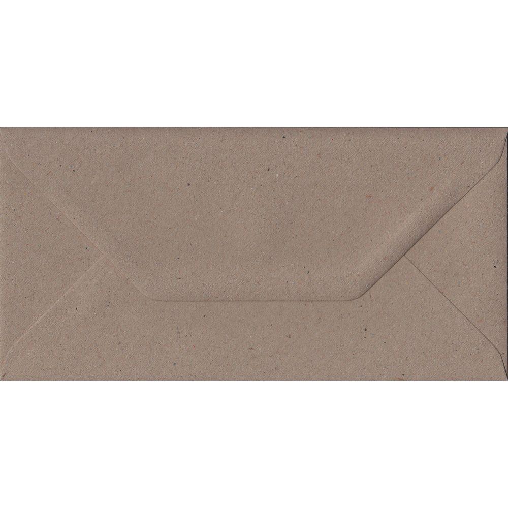 Recycled Fleck DL 110mm x 220mm Gummed Colour Business Envelopes