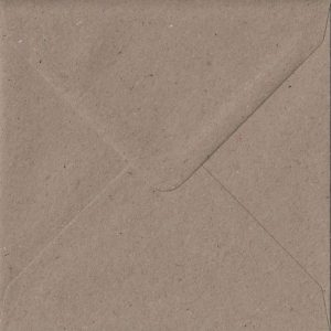 100 Square Kraft Envelopes. Recycled Fleck. 155mm x 155mm. 100gsm paper. Extra Value MultiPack.