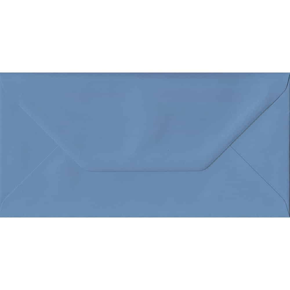 110mm x 220mm French Blue Blue Gummed DL 135gsm Envelope