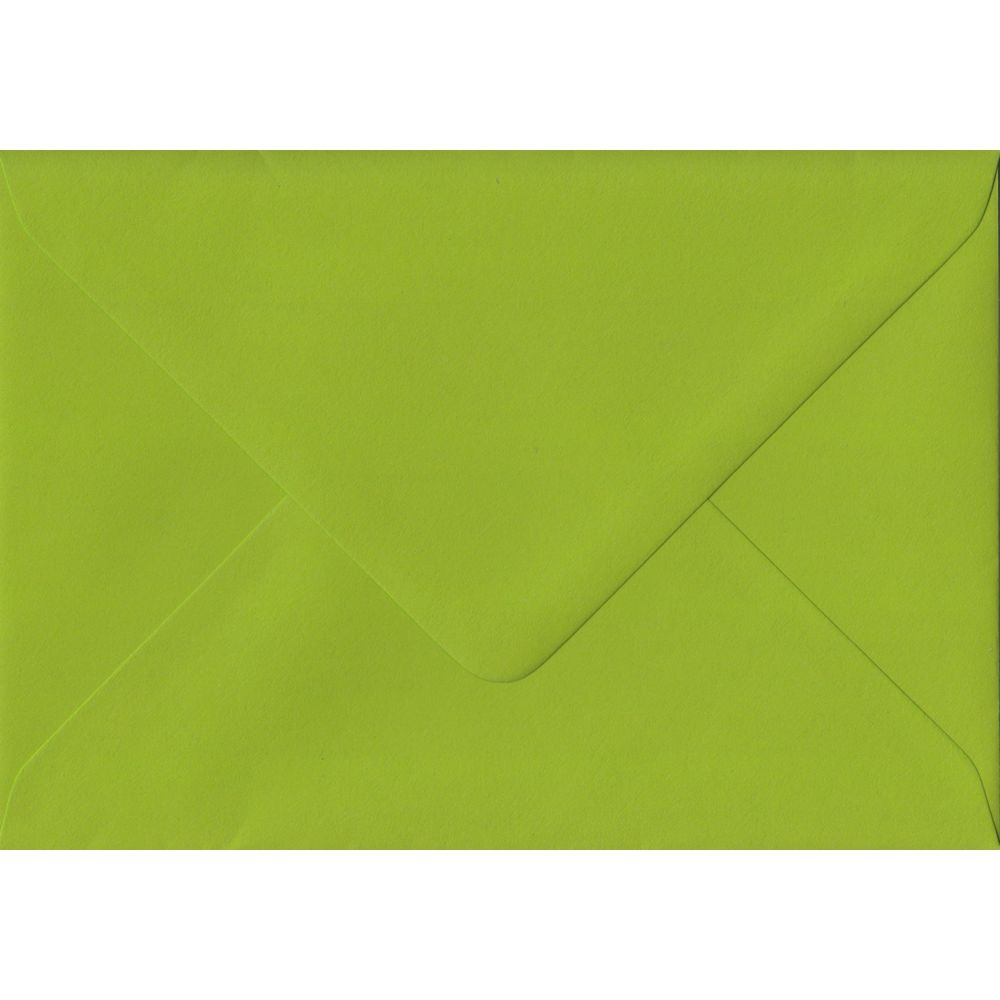 Fresh Green C6 114mm x 162mm Gummed Coloured A6 Card Envelopes