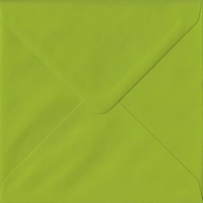 Fresh Green S4 155mm x 155mm Gummed Square Colour Envelopes