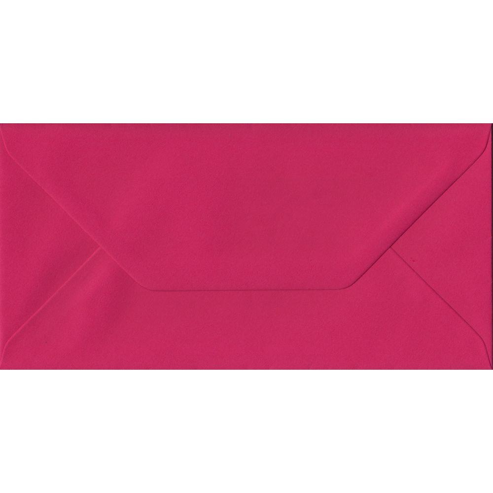 Fuchsia Pink DL 110mm x 220mm Gummed Colour Business Envelopes