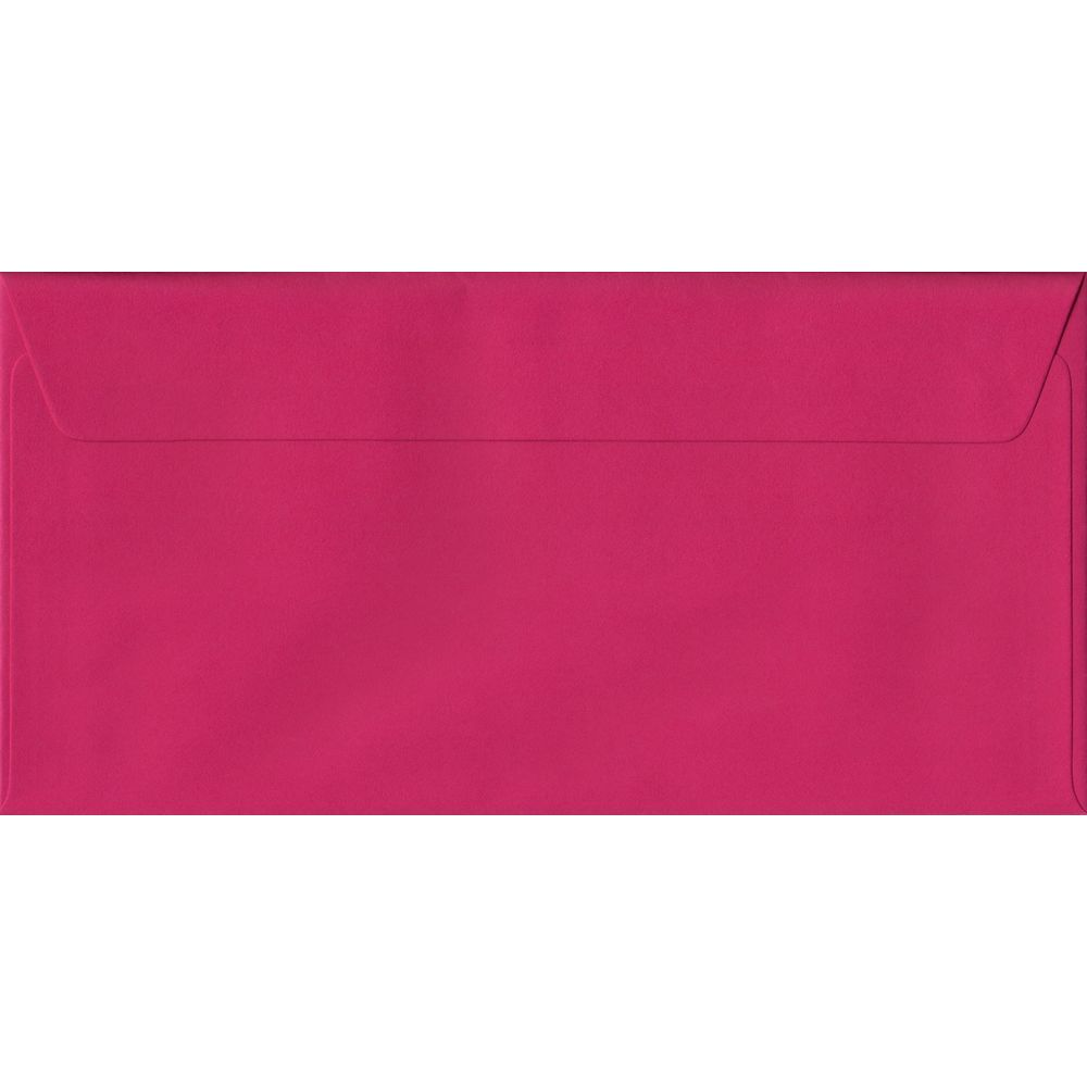 Fuchsia Pink DL 110mm x 220mm Peel/Seal Colour Business Envelopes