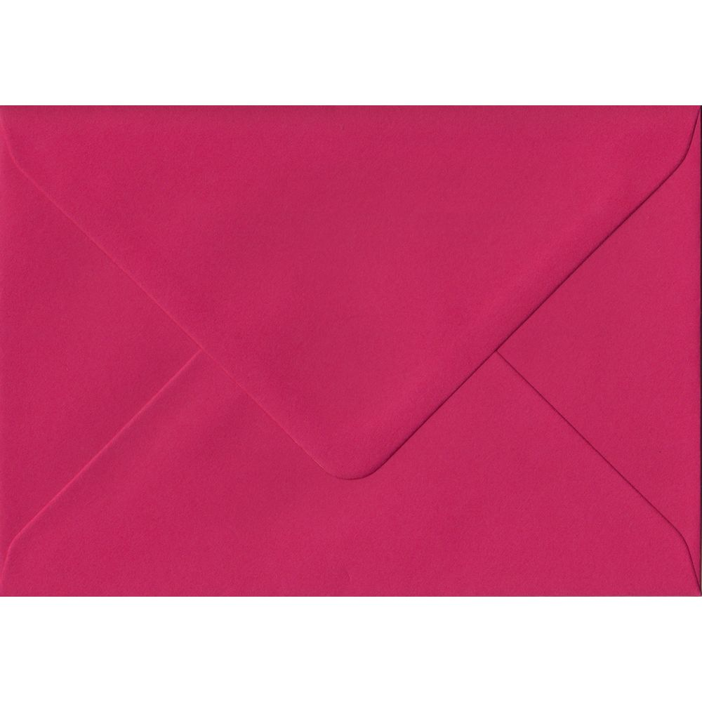 Fuchsia Pink C6 114mm x 162mm Gummed Coloured A6 Card Envelopes