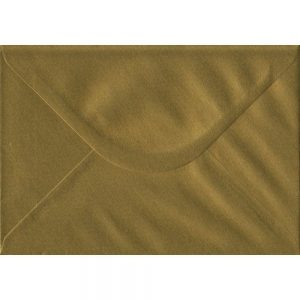 Metallic Gold C5 162mm x 229mm Gummed A5 Size Colour Envelopes