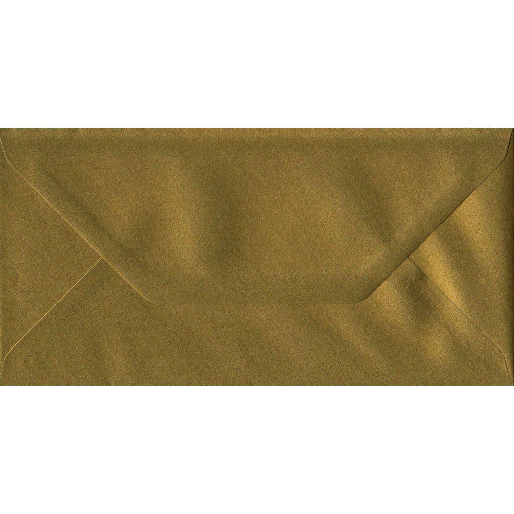 Metallic Gold DL 110mm x 220mm Gummed Colour Business Envelopes