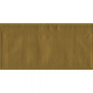 Metallic Gold DL 110mm x 220mm Peel/Seal Colour Business Envelopes