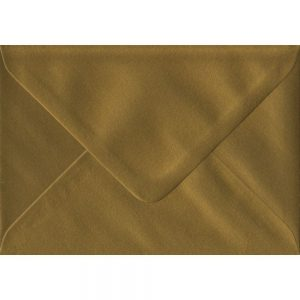 Metallic Gold C6 114mm x 162mm Gummed Coloured A6 Card Envelopes