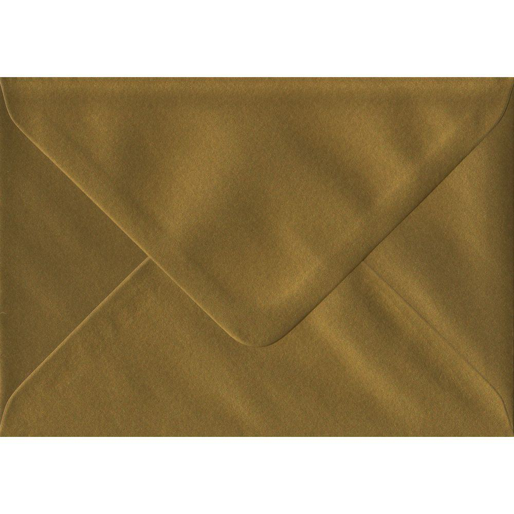 Metallic Gold G6-125 mm x 175 mm 100gsm Gummed Small Colour Card Envelopes