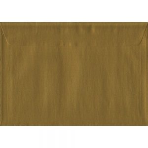 Metallic Gold C5 162mm x 229mm Peel/Seal A5 Size Colour Envelopes