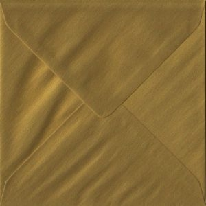 Metallic Gold S4 155mm x 155mm Gummed Square Colour Envelopes