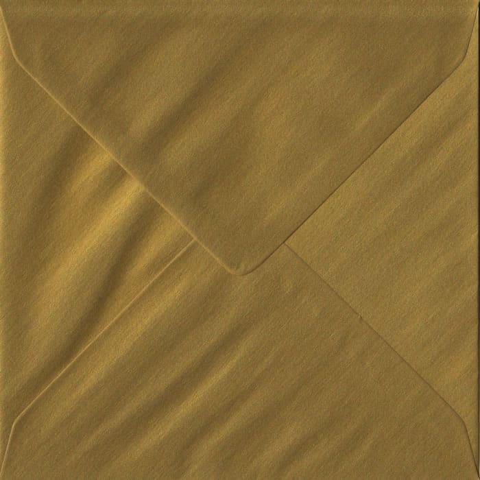 Metallic Gold S4 155mm x 155mm Gummed Square Colour Envelopes