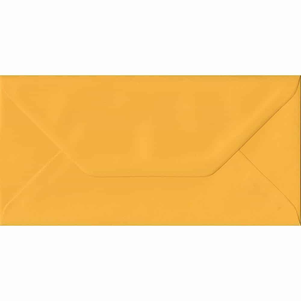 Golden Yellow DL 110mm x 220mm Gummed Colour Business Envelopes