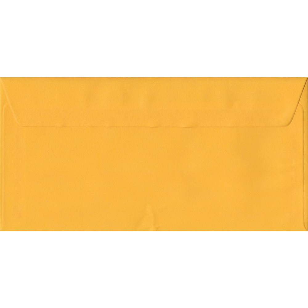 Golden Yellow DL 110mm x 220mm Peel/Seal Colour Business Envelopes