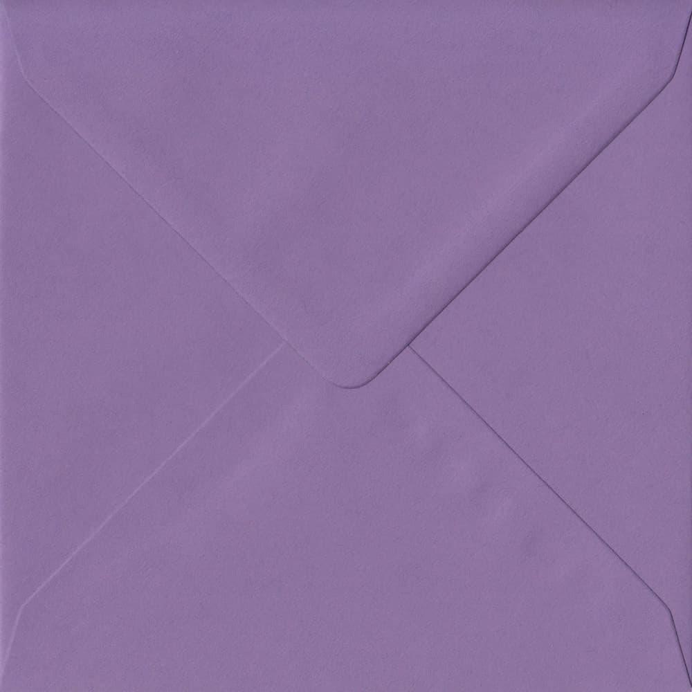 155mm x 155mm Indigo Purple Gummed Square 100gsm Envelope