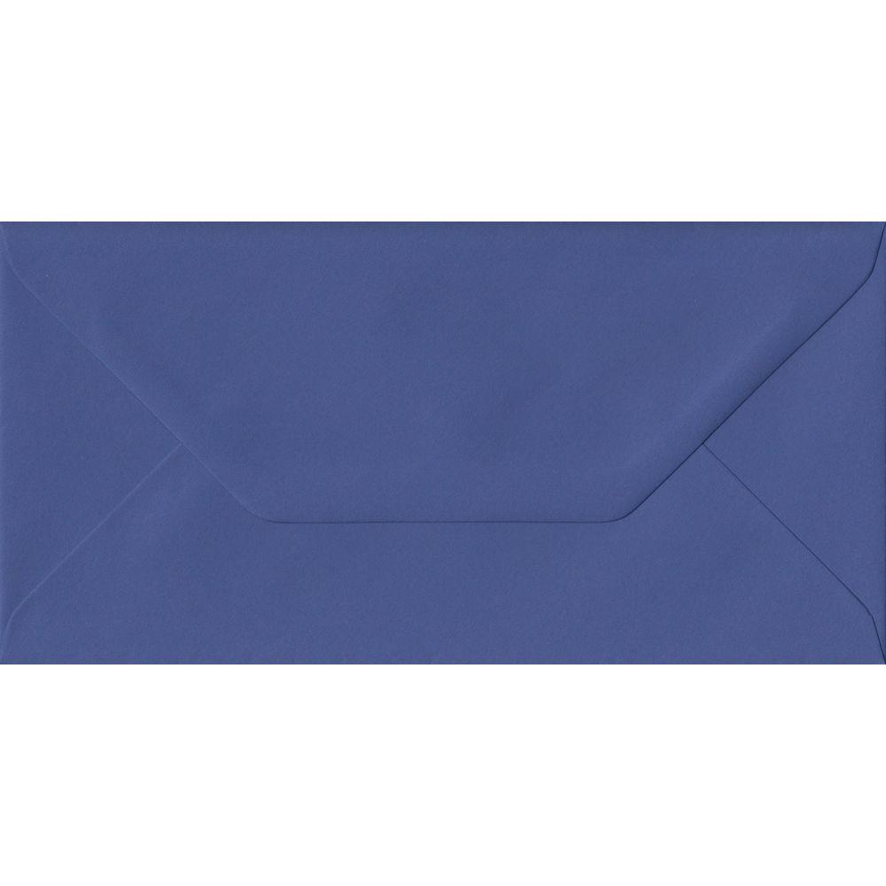 Iris Blue DL 110mm x 220mm Gummed Colour Business Envelopes
