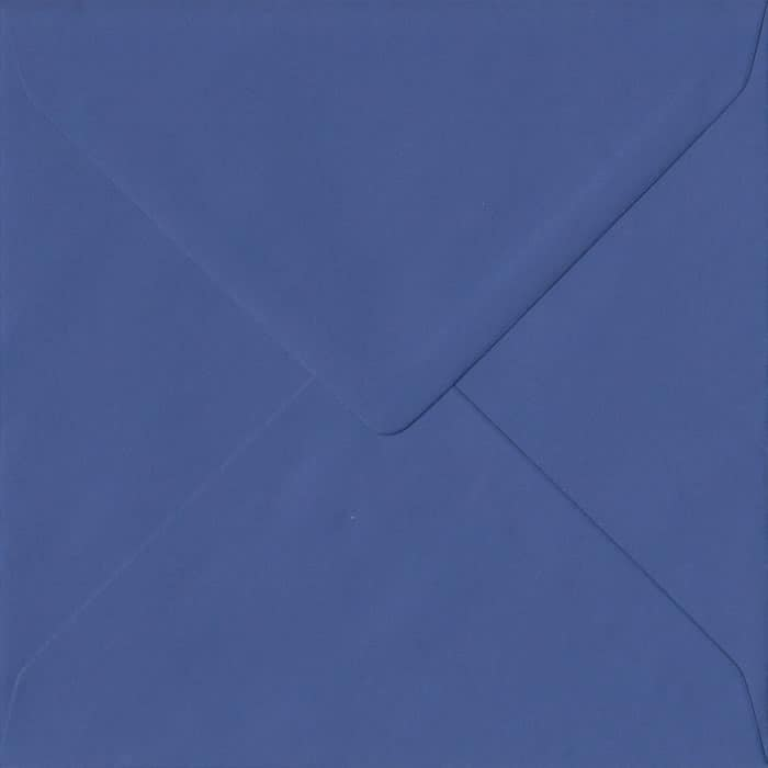 Iris Blue S4 155mm x 155mm Gummed Square Colour Envelopes