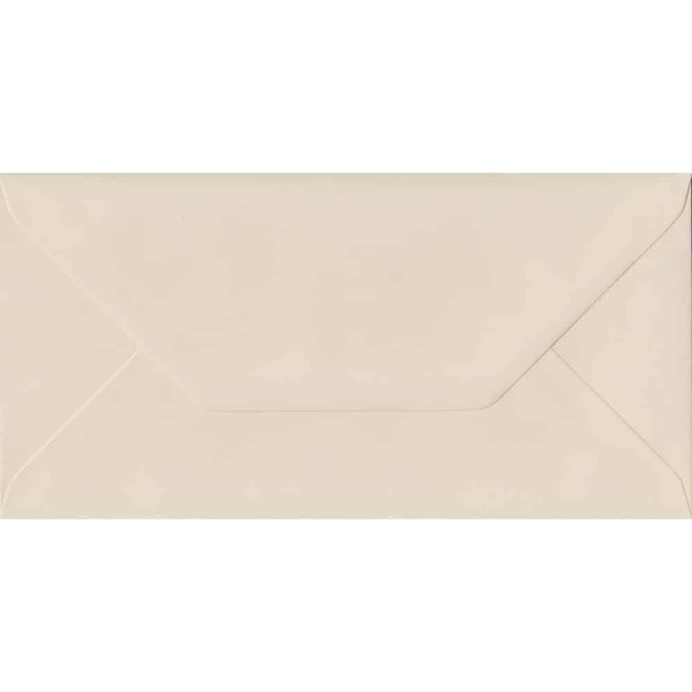 Ivory DL 110mm x 220mm Gummed Colour Business Envelopes