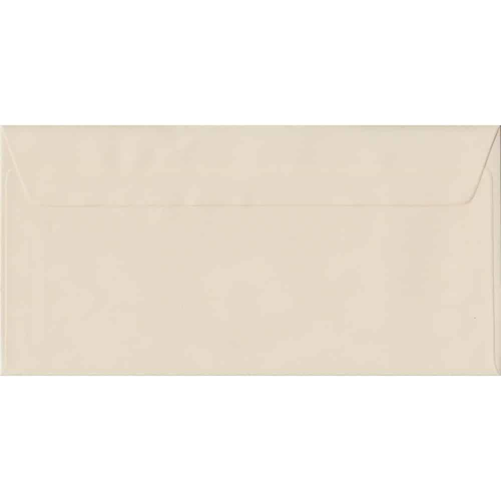 Ivory DL 110mm x 220mm Peel/Seal Colour Business Envelopes