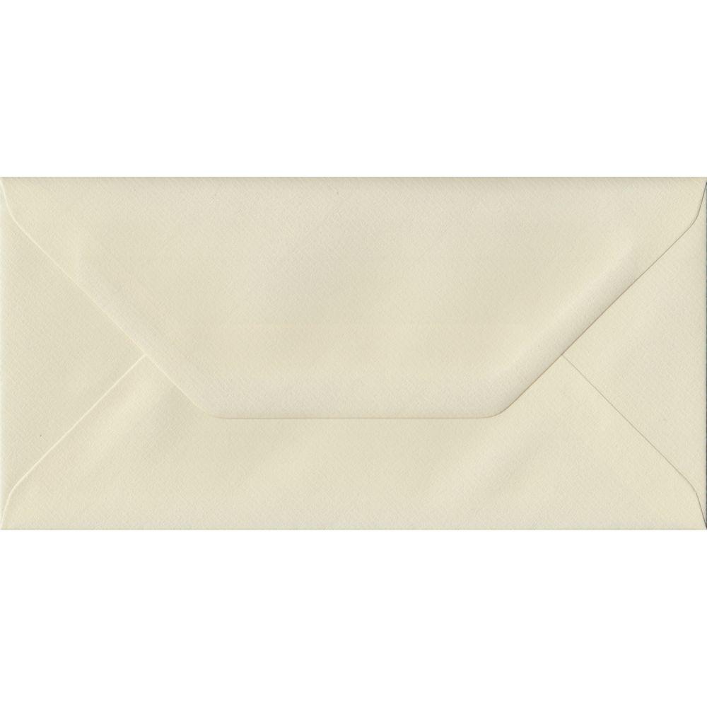 Ivory Laid DL 110mm x 220mm Gummed Colour Business Envelopes