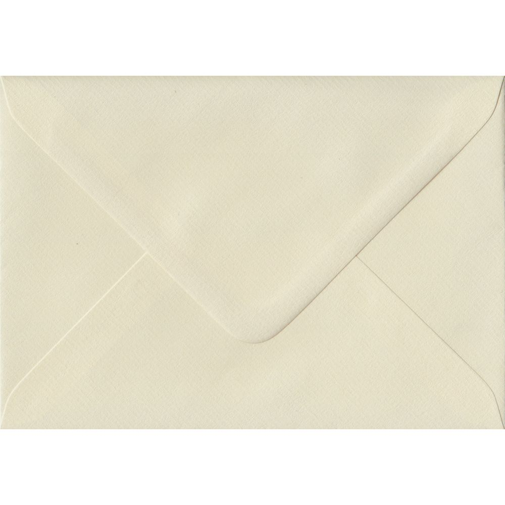 Ivory Laid C6 114mm x 162mm Gummed Coloured A6 Card Envelopes