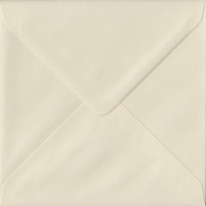 Ivory Laid S4 155mm x 155mm Gummed Square Colour Envelopes