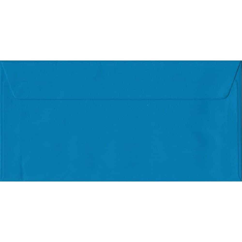 Kingfisher Blue DL 110mm x 220mm Peel/Seal Colour Business Envelopes