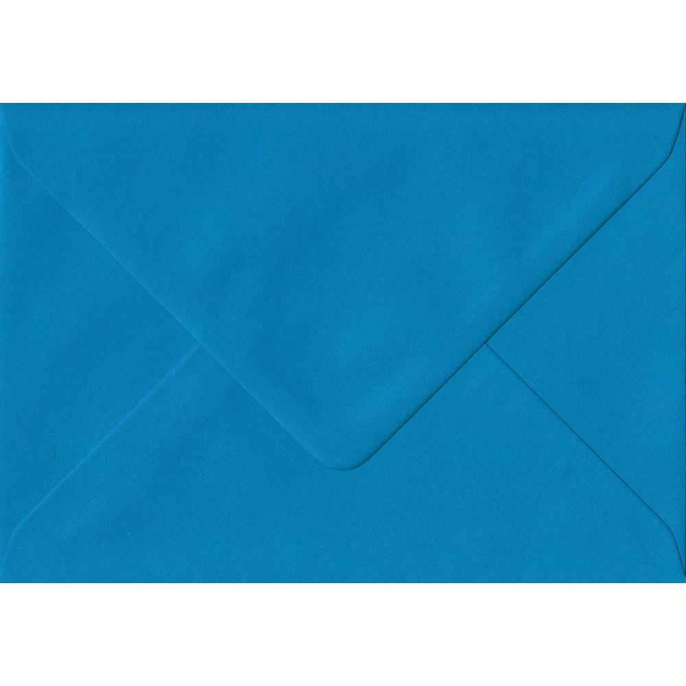 Kingfisher Blue C6 114mm x 162mm Gummed Coloured A6 Card Envelopes