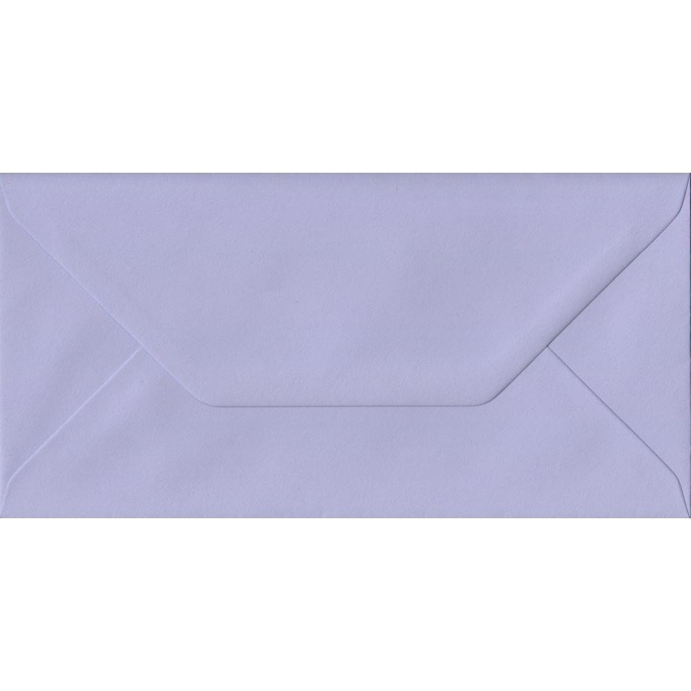 Lilac DL 110mm x 220mm Gummed Colour Business Envelopes