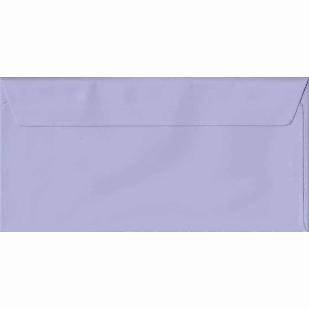 Lilac DL 110mm x 220mm Peel/Seal Colour Business Envelopes
