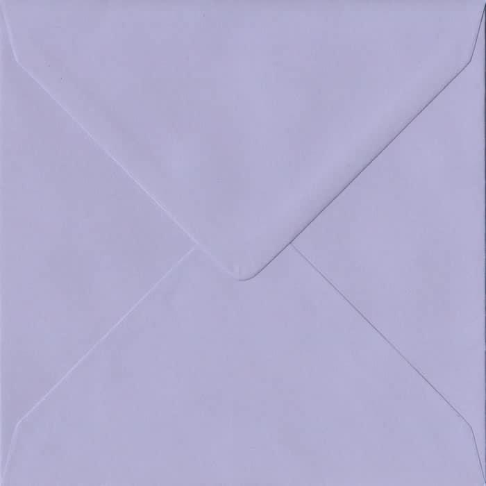 Lilac S4 155mm x 155mm Gummed Square Colour Envelopes