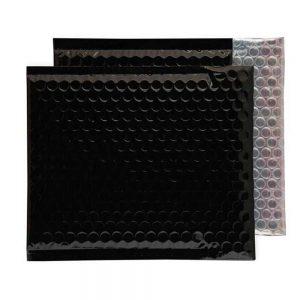 Oil Black Gloss 165mm x 165mm Bubble Envelopes (Box Of 100)