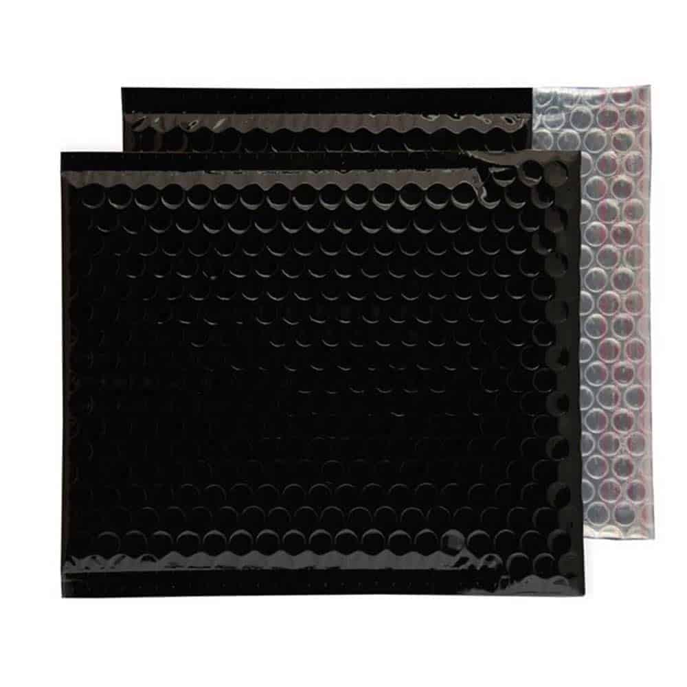 Oil Black Gloss 165mm x 165mm Bubble Envelopes (Box Of 100)