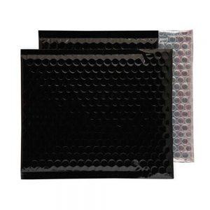 Oil Black Gloss 230mm x 230mm Bubble Envelopes (Box Of 100)