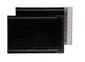 Oil Black Gloss 250mm x 180mm Bubble Envelopes (Box Of 100)