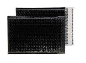 Oil Black Gloss 324mm x 230mm Bubble Envelopes (Box Of 100)