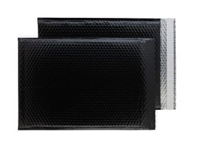 Oil Black Gloss 450mm x 324mm Bubble Envelopes (Box Of 50)