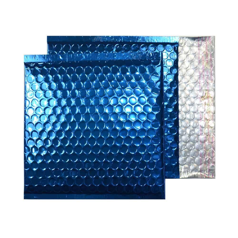Peacock Blue Gloss 165mm x 165mm Bubble Envelopes (Box Of 100)