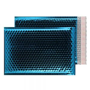 Peacock Blue Gloss 450mm x 324mm Bubble Envelopes (Box Of 50)