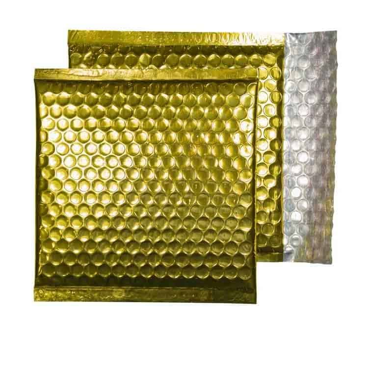 Glamour Gold Gloss 165mm x 165mm Bubble Envelopes (Box Of 100)