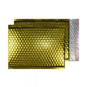 Glamour Gold Gloss 250mm x 180mm Bubble Envelopes (Box Of 100)
