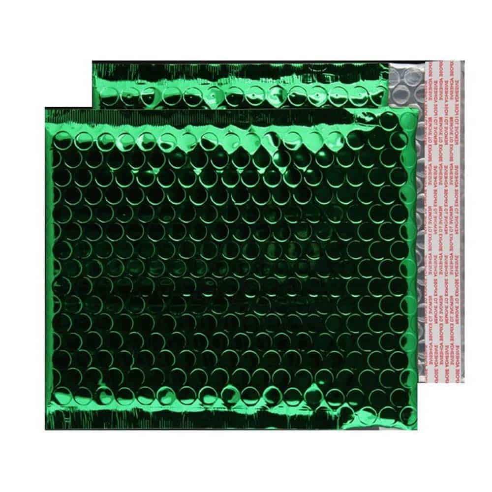 Emerald Green Gloss 165mm x 165mm Bubble Envelopes (Box Of 100)