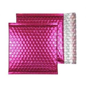 Party Pink Gloss 165mm x 165mm Bubble Envelopes (Box Of 100)