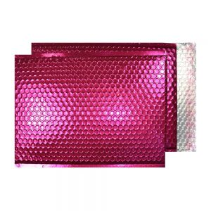 Party Pink Gloss 250mm x 180mm Bubble Envelopes (Box Of 100)