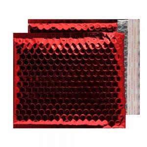 Festive Red Gloss 165mm x 165mm Bubble Envelopes (Box Of 100)