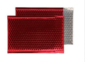 Festive Red Gloss 250mm x 180mm Bubble Envelopes (Box Of 100)