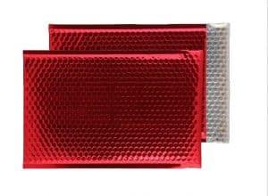 Festive Red Gloss 324mm x 230mm Bubble Envelopes (Box Of 100)