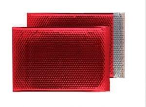 Festive Red Gloss 450mm x 324mm Bubble Envelopes (Box Of 50)