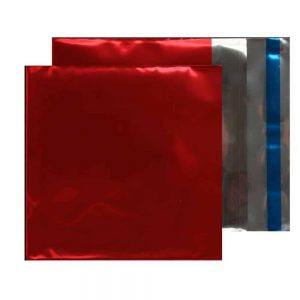 Metallic Red 70 micron 165mm x 165mm Foil Envelopes (Box Of 250)