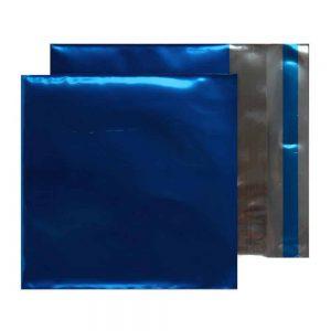 Metallic Blue 70 micron 165mm x 165mm Foil Envelopes (Box Of 250)